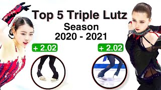 Top 5 Lutz Jumps in ladies figure skating 2020 2021 according to the judges