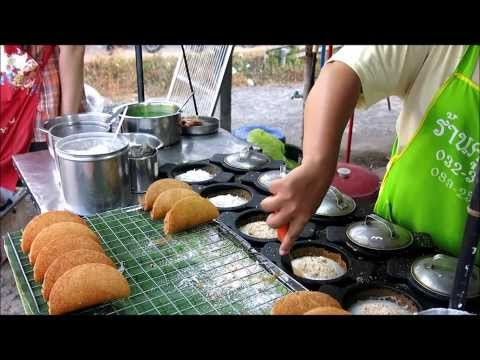 PHUKET THAI STREET FOOD MARKET RECIPE RICE DONUTS Travel trip Thailand Asia shopping