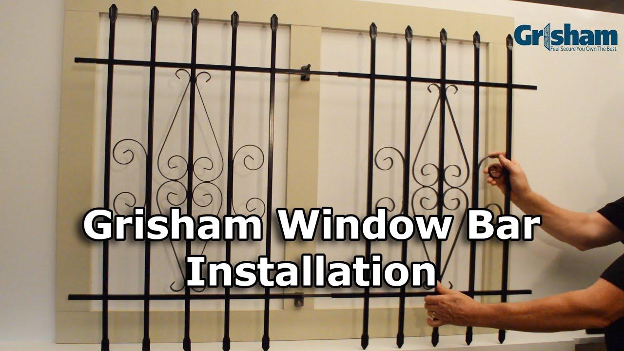 Grisham Window Bars Installation Tutorial Youtube