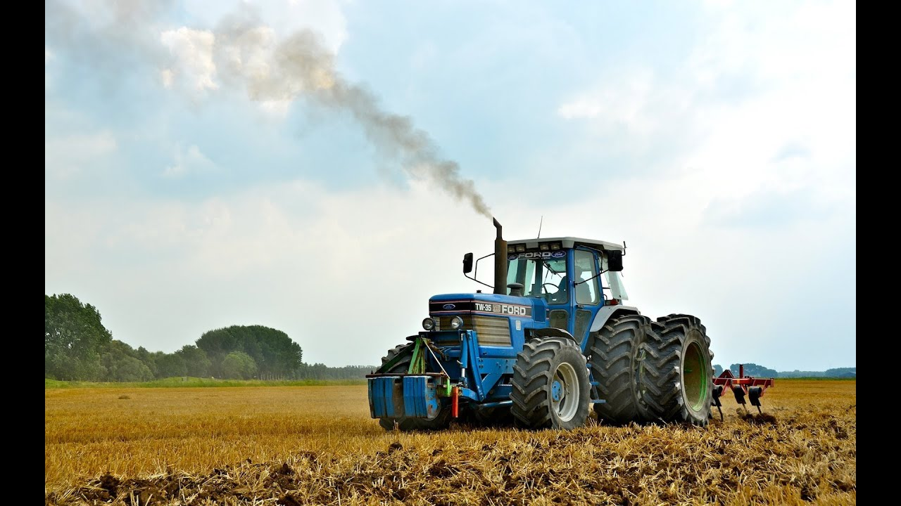 Ford New Holland >> Ford TW-35 - Stubble Cultivation - YouTube