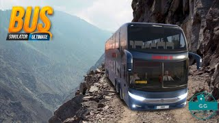 Dangerous bus driving on hilly mountain Bus simulator Ultimate Gameplay screenshot 2