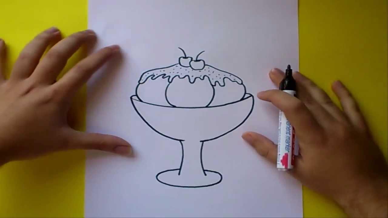 Como dibujar un helado paso a paso 2  How to draw an ice