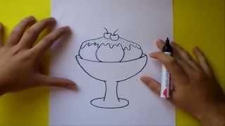 Como dibujar un helado paso a paso 2 | How to draw an ice cream 2