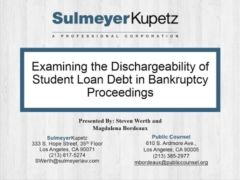 Examining the Dischargeability of Student Loan Debt in Bankruptcy Proceedings Mp3