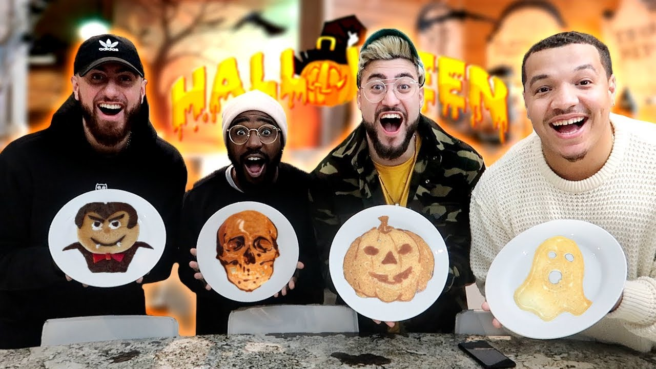HALLOWEEN PANCAKE ART CHALLENGE WITH TEAM ALBOE!