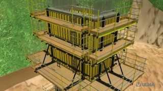 Подъемная опалубка - ULMA Construction [ru](Подъемная опалубка для бетонирования на высоте с рабочими платформами в качестве опоры для вертикальной..., 2015-03-30T09:22:19.000Z)