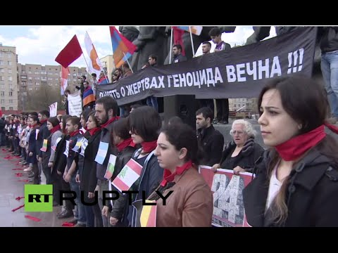 LIVE: Moscow rally commemorates 101st anniversary of Armenian genocide