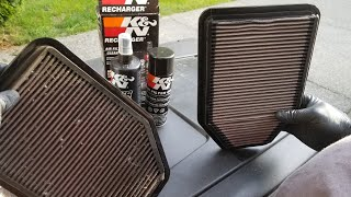 K&N air filter cleaning and recharging