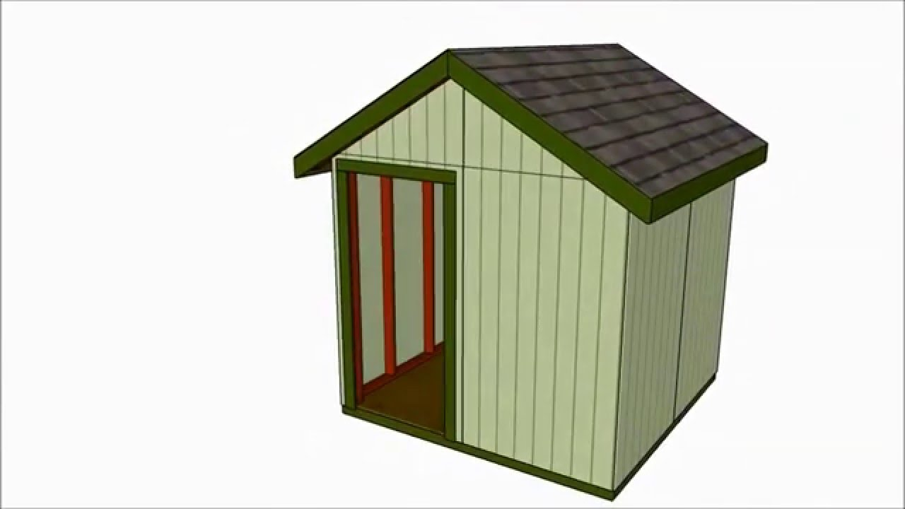 8x8 Shed Plans Youtube