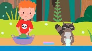 Развивающие песенки для малышей 🎵 Енот 🐾 мультики про животных / теремок песенки