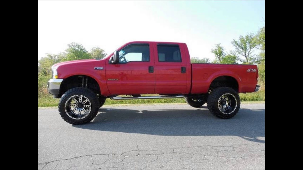 2002 Ford F 250 Diesel Xlt 8 Inch Lifted Truck For Sale