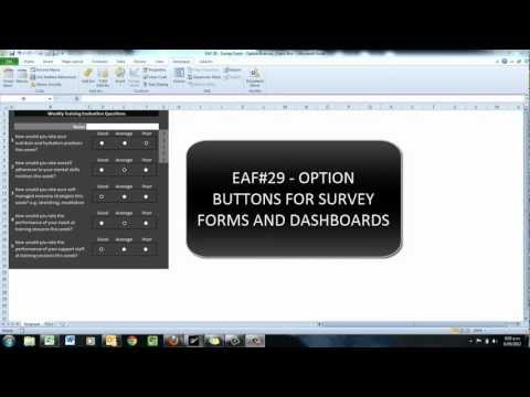 EAF# 29 - Excel 2010 Option Buttons for Surveys