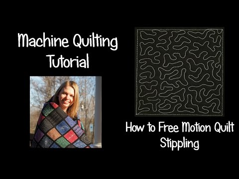 How to Machine Quilt Stippling