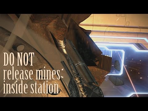 Do not release mines inside station