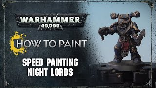 How to Paint: Speed Painting Night Lords