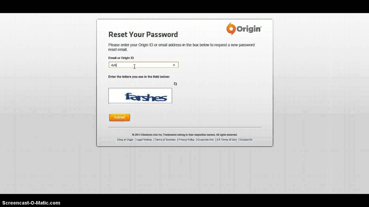 how to change origin password