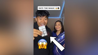Rate the MAGIC TRICK w/ Mom - #Shorts