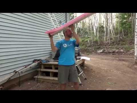 Easy way to Install attic rafter / baffle vents from the out