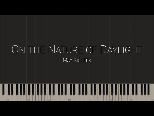 On the Nature of Daylight - Max Richter \\ Synthesia Piano Tutorial