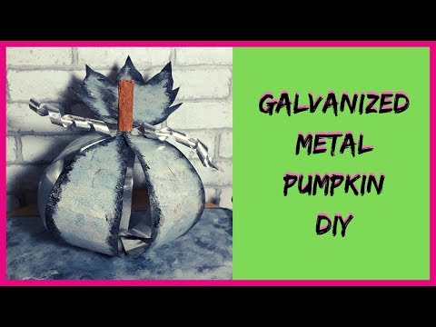 GALVANIZED METAL PUMPKIN DIY// HOBBY LOBBY DUPE