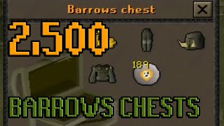 2500 Barrows Chests - Loot From | Oldschool Runescape