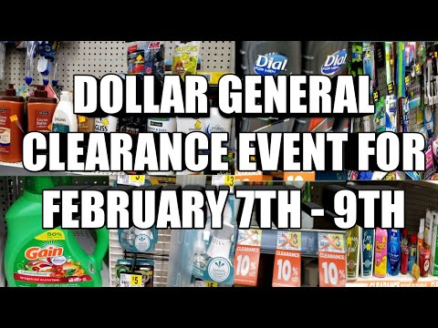 DOLLAR GENERAL CLEARANCE EVENT FOR FEBRUARY 7TH - 9TH  LET'S PREPARE