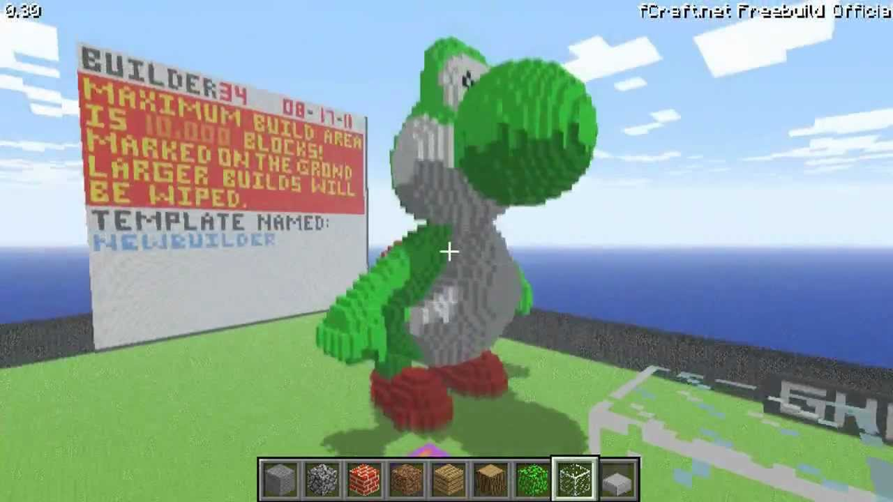 Minecraft Pixel Art Grid Yoshi