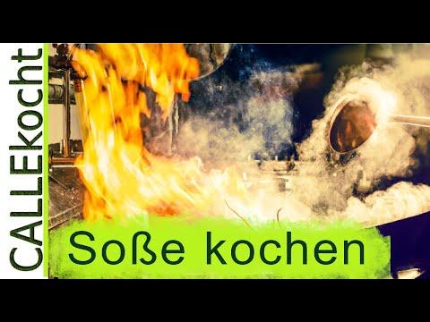 Dunkle Soße selber machen. Grund - Rezept für  Bratensauce aus Knochen