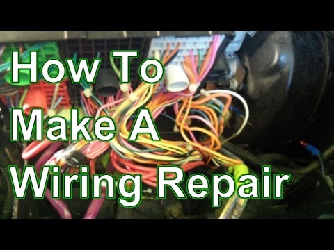 how to fix and repair automotive wiring harness youtube rh youtube com Classic Car Wiring Harness Sony Car Stereo Wiring Harness