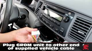 Toyota Corolla 2002 2003 2004 2005 2006 2007 2008 GROM USB iPhone Android Bluetooth Kit Install