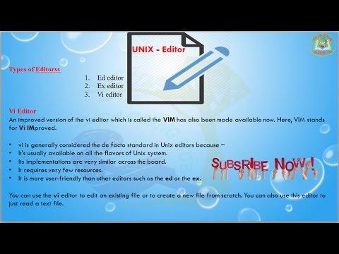 Lesson - 20 : UNIX - Editor Commands in Unix