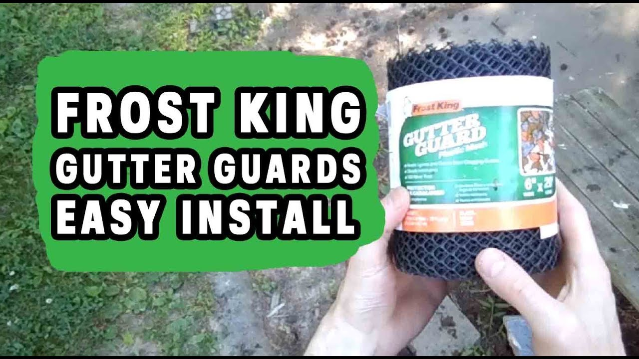 Frost King Gutter Guards Easy Install Diy Clean Gutters Youtube