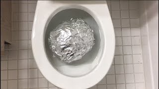 Will it Flush? - Polished Aluminum Foil Ball