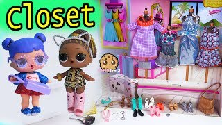Inside Barbie's Closet ! LOL Surprise Dress Up + Open Barbie Blind Bags