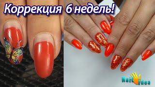 Коррекция 6 НЕДЕЛЬ!!! Красный МАНИКЮР / РУГАЮ подругу за переношенные ногти / Гель лаки Moltini