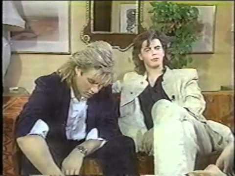 Simon Le Bon & John Tohn Taylor Entertainment Tonight    1984