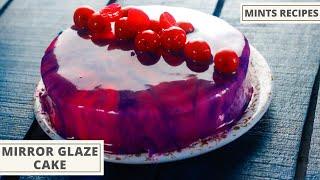 Mirror Glaze Cake Recipe In Hindi - Eggless Cake Recipe - MintsRecipesHindi - Part-1