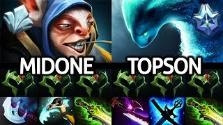 TOPSON Morphling VS MIDONE Meepo - Insane Battle Mid Lane 7.24 Dota 2