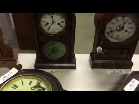 Antique clocks at our Presidents day sale, Feb. 15th 6pm, FairAuctionCo.com