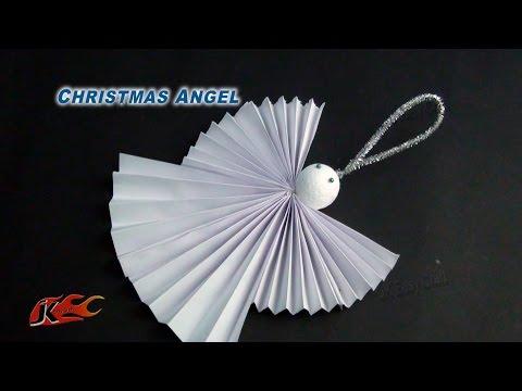 DIY Easy Paper Christmas Ornament Angel   How to make    JK Easy Craft 099