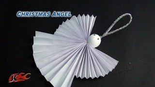 DIY Easy Paper Christmas Ornament Angel | How to make |  School Project for kids | JK Easy Craft 099