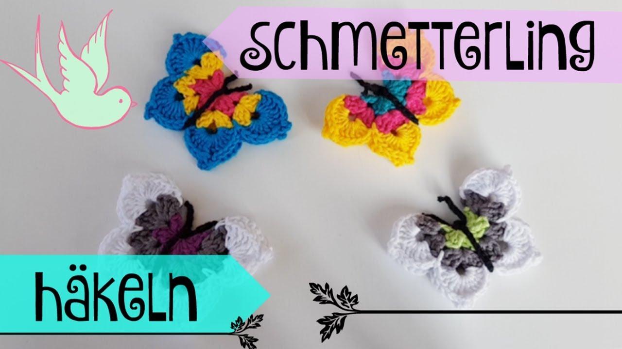 DIY ✿ Schmetterling häkeln ✿ Deko häkeln ✿ Häkeln für Anfänger ...
