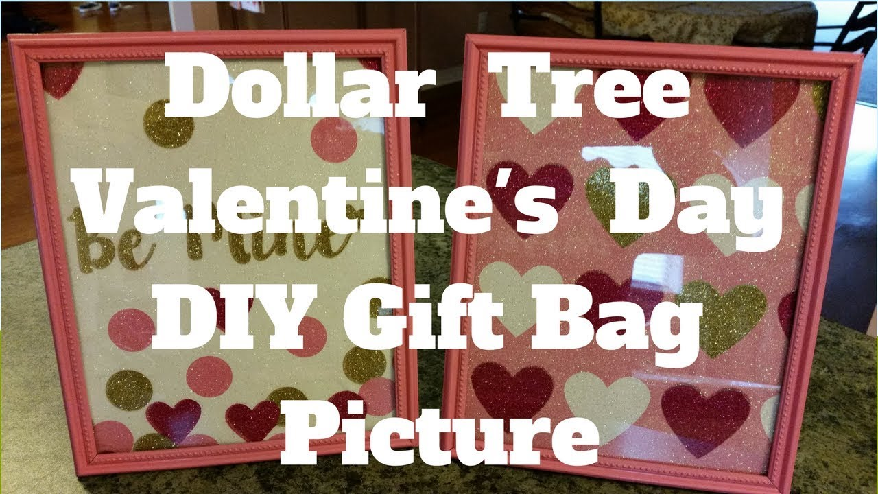 Dollar Tree Valentine S Day Diy Gift Bag Picture Youtube