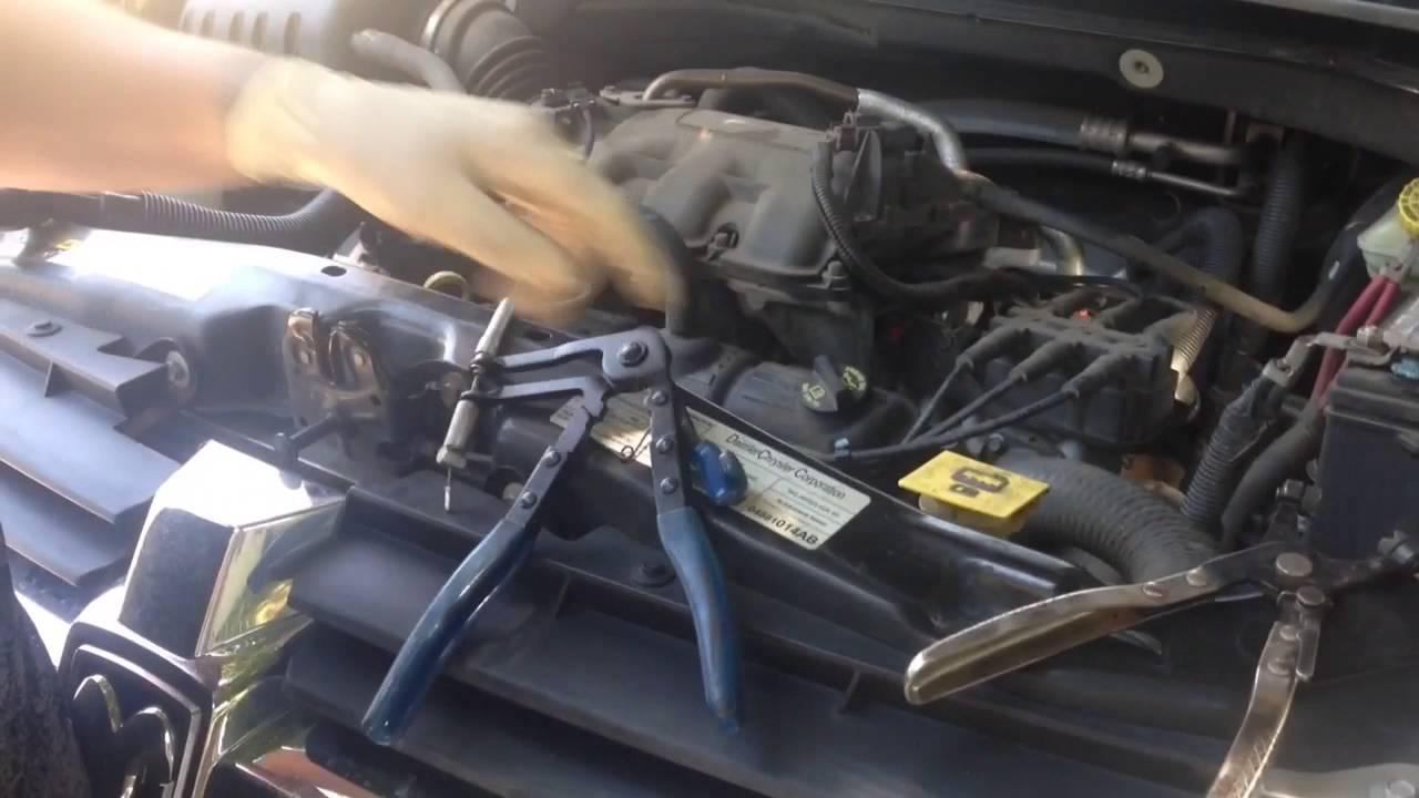 2008 Dodge Grand Caravan heater hose replacement  YouTube