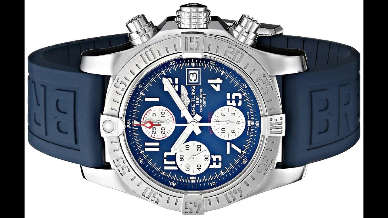 Breitling Men S Bta1338111 Stainless Steel Watch With Blue