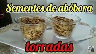 Preparando sementes de abóbora e benefícios