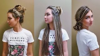 3 quick and easy messy buns beautybyasha