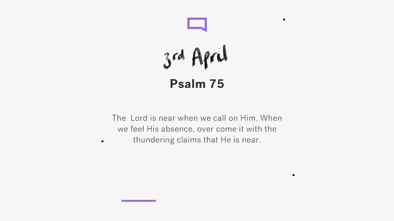 Daily devotions // Psalm 75 Cover Image