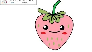 How to draw a nice kawaii strawberry / song