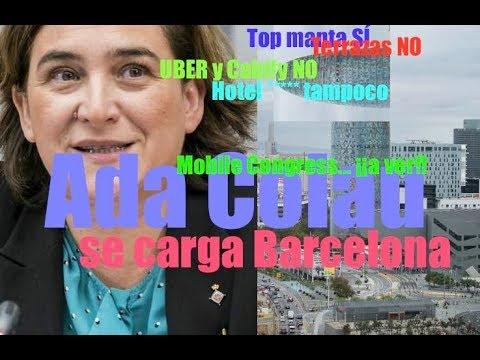 Ada Colau arruina Barcelona : la peor alcaldesa de Barcelona